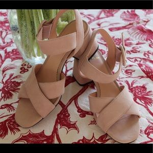 Suede sandals size 6